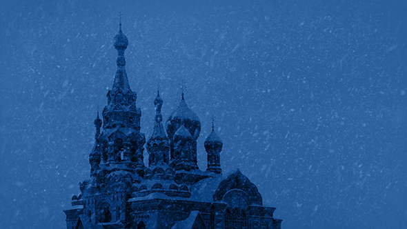 Download Russian Church In Snowstorm At Night nulled download