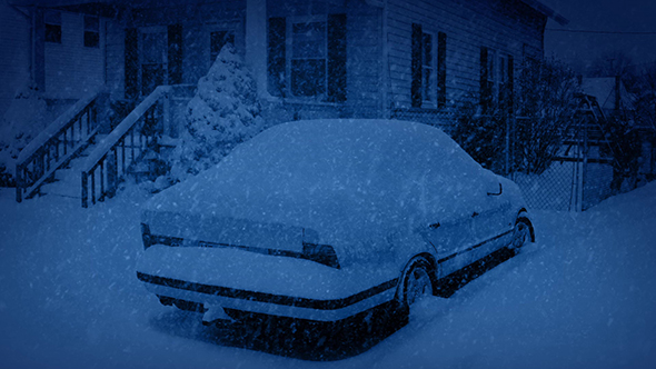 Download Car in Snowfall at Night nulled download