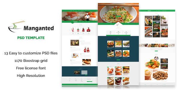 Manganted PSD Template