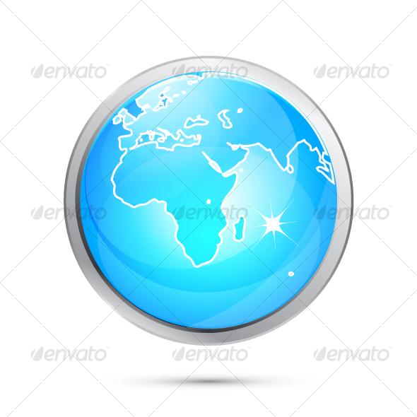 GraphicRiver Blue Earth globe design 70230