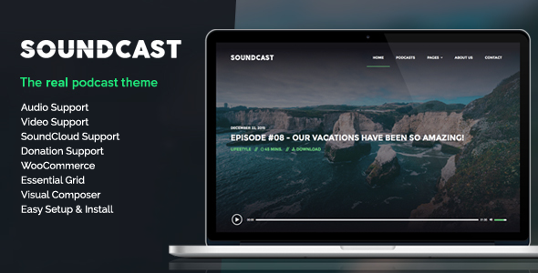 Soundcast - Podcast WordPress Theme