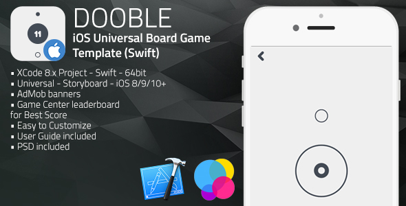DOOBLE | iOS Universal Game Board Template (Swift)