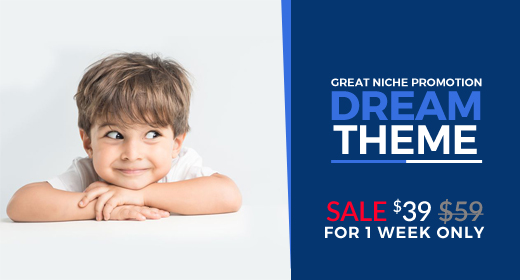 Great Niche Theme Promotion for 1 week - $39 per license