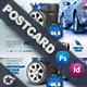 Automobile Tire Postcard Templates