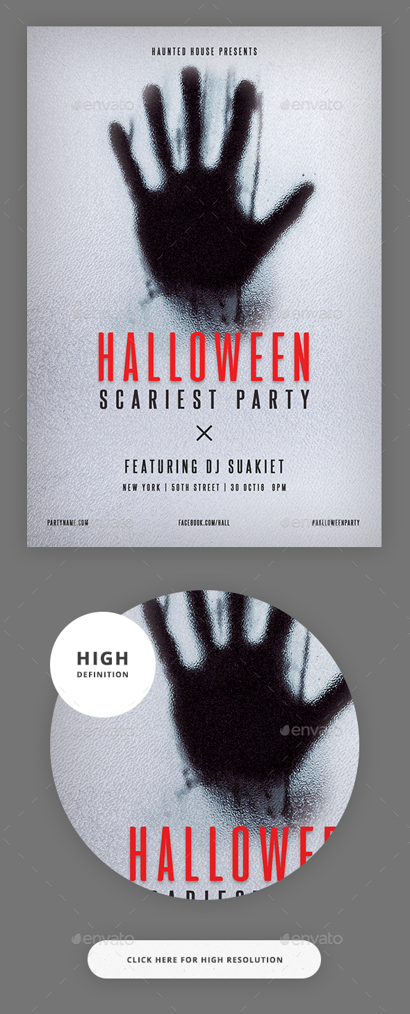 Halloween Minimalist Flyer Party