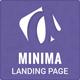 Minima Simple App Showcase Landing Page