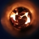 Coal Into Iron Furnace Burns With Flame