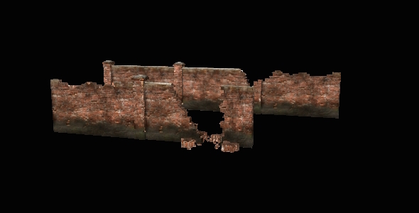 Brick Fence - 3DOcean Item for Sale