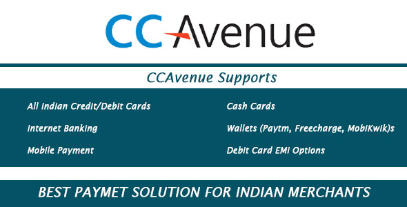 CCAvenue Payment Module - OpenCart 2.x.x