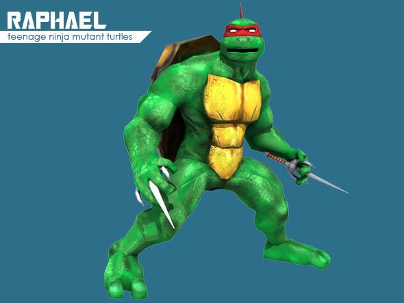 3DOcean Teenage Ninja Mutant Turtle Raphael 1799903