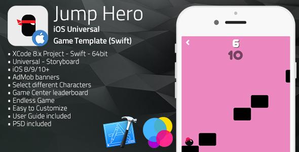 JumpHero | iOS Universal Game Template (Swift)