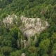 Aerial Shot Beautiful Landscape With Forest And Cliff