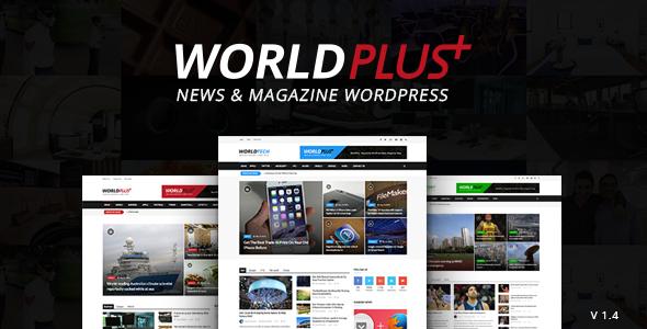 Worldplus Responsive News And Magazine Wordpress Theme
