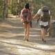 Female Hiker Turns Her Face