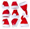 Santa's Hat set over white - PhotoDune Item for Sale