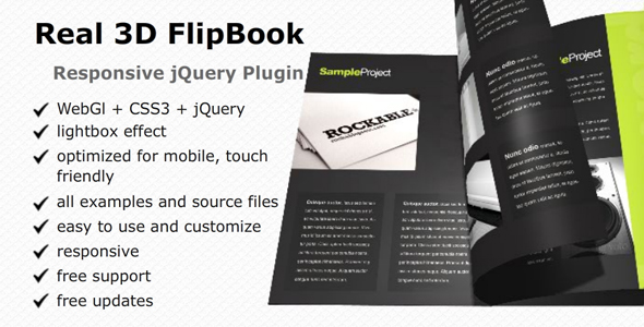 Real 3D FlipBook jQuery Plugin - CodeCanyon Item for Sale