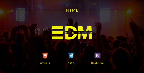 EDMania - EDM & Music Template