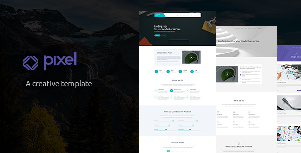 Pixel - Corporate PSD Template