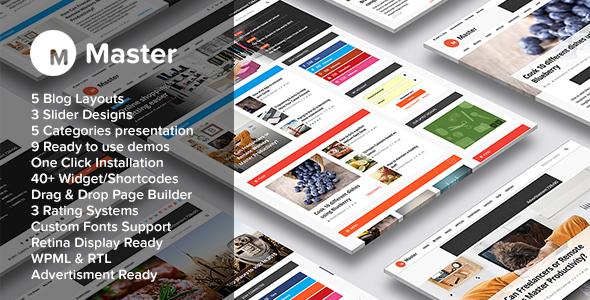 Master | Premium Blog & Magazine WordPress Theme
