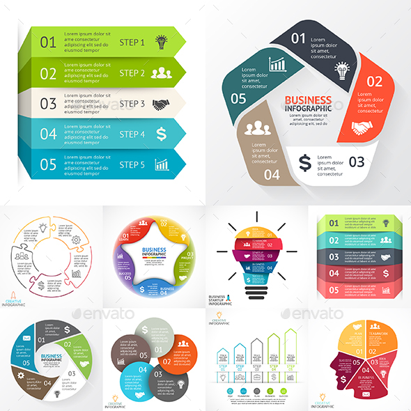 5 Steps Infographics. PSD, EPS, AI.