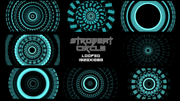 VideoHive Strobeat Circle Background VJ Pack 18273472