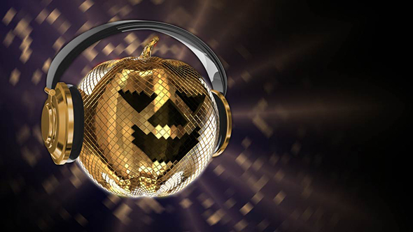 VideoHive Halloween Disco Ball With Headphones And Rays 18275766