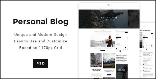 Personal Blog - Modern minimal Personal Blog Template