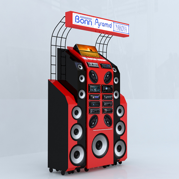 Audio Equipment Display - 3DOcean Item for Sale