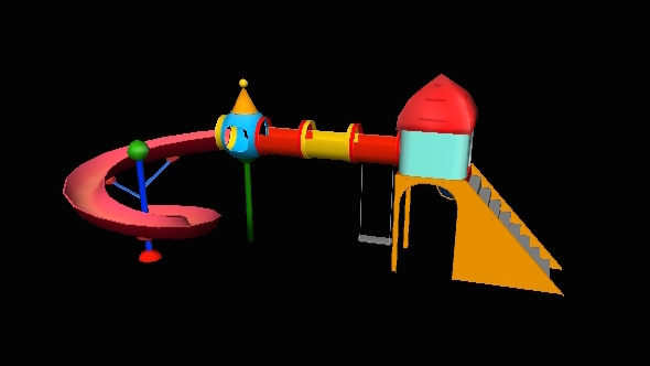 Plastic Garden Slide - 3DOcean Item for Sale