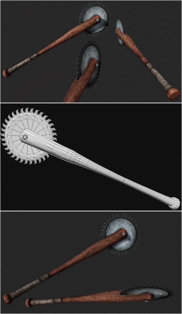 Baseball Bat Weapon 02 - 3DOcean Item for Sale