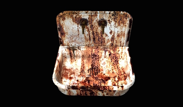 Rusted Basin - 3DOcean Item for Sale