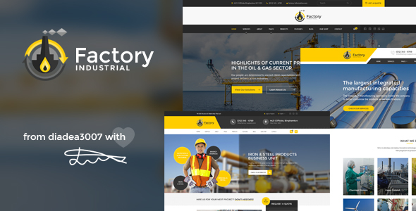 Factory Industrial - Engineering & Industrial PSD Template