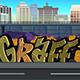 Graffiti on the Wall Urban Background