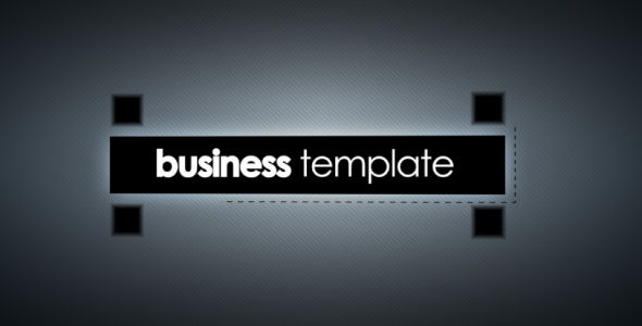 [VideoHive 212768] Business Template | After Effects Project