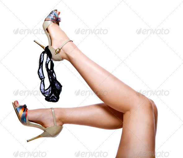Woman legs, isolated over white - Stock Photo - Images