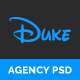 Duke - Agency PSD Template