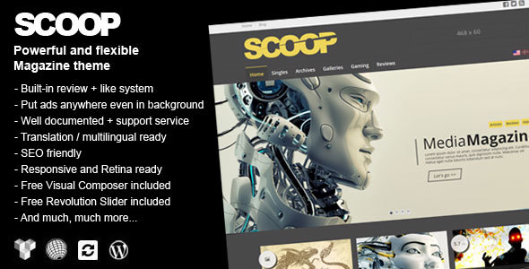 Download Scoop - A Magazine Theme For WordPress nulled download