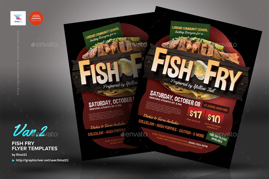 Fish Fry Flyer Templates by kinzi21 | GraphicRiver