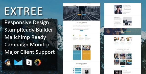 Extree - Multipurpose Responsive Email Template + Stampready Builder