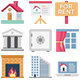 100 Real Estate Color Vector Icons