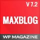 MaxBlog - Flat News Magazine Blog WP