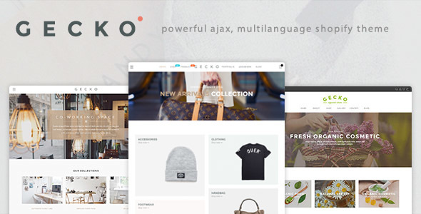 Download Gecko - Powerful Fashion, Organic Shopify Theme nulled download
