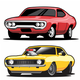 Set of Classic Muscle Cars