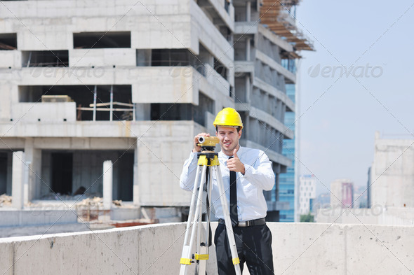 architect on construction site - Stock Photo - Images