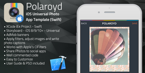 Polaroyd | iOS Universal Photo App Template (Swift)