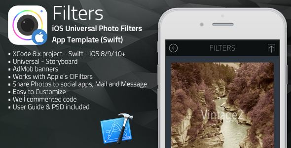 Filters | iOS Universal Photo Filters App Template (Swift)