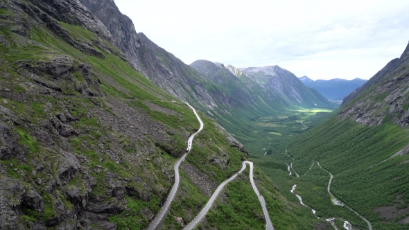 Download Troll's Path Trollstigen Or Trollstigveien Winding Mountain Road. nulled download