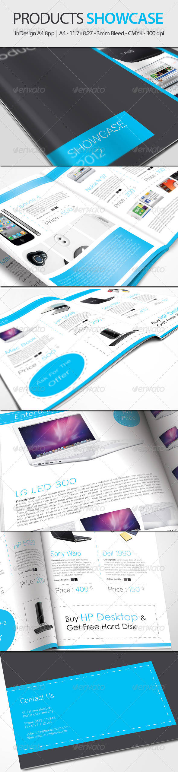 Products Showcase  - InDesign A4 8pp - Catalogs Brochures