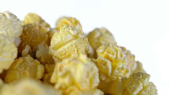 Download Popcorn With Taste Of Bacon Rotates On a White Background nulled download
