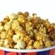 Caramel Popcorn Rotates on a White Background
